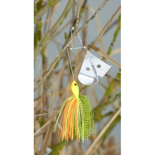 Buzzer bait - silver bell lure Farbe Chartreuse 26 g
