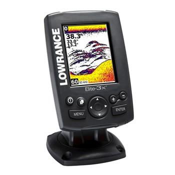 Lowrance Elite-3x Fishfinder (83/200 kHz) inkl. Spiegelheckgeber B-WARE