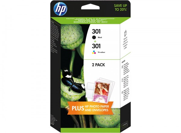 HP Tintenpatrone 301 schwarz und color Duo Set