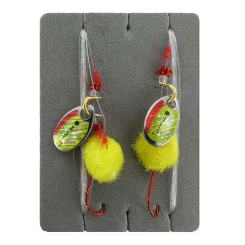 Trout Dope Forellenvorfach, Farbe Gelb, L