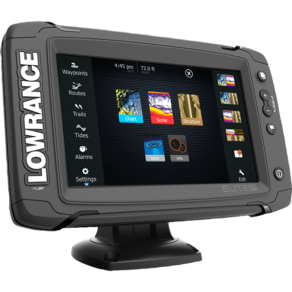 Lowrance Elite-7 Ti mit Mid/High TotalScan Geber