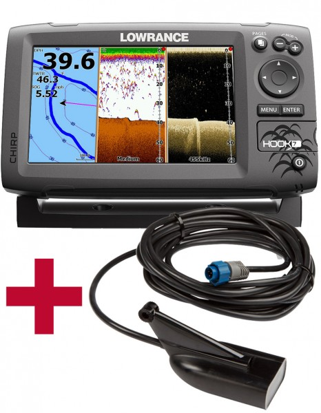 Lowrance Hook 7 Mid/High DownScan Combo Fischfinder Echolot GPS