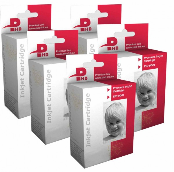 PHD-INK CLI521 + PGI 520 MultiPack 5 Patronen (mit Chip)