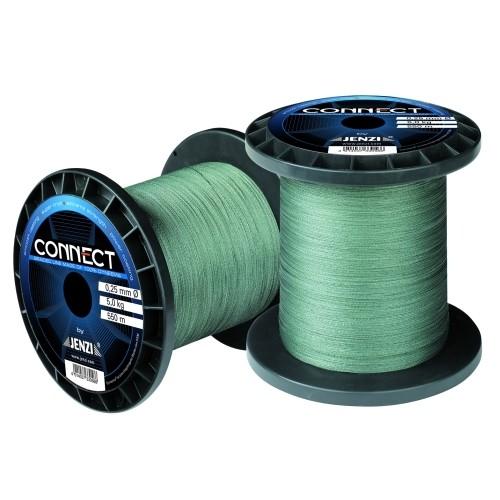 Connect Schnur Dyneema  geflochten 1000m Spule  0,10mm Farbe: Tarngr
