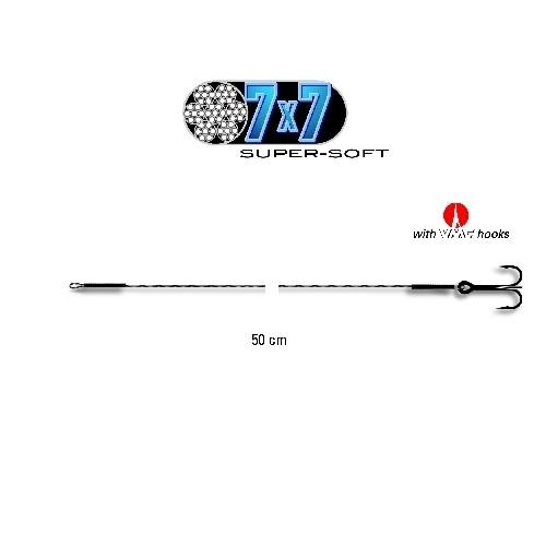 Powerflex 7x7 Super-Soft-Stahlvorfach mit Drilling, Haken 4, 9 Kg,  L