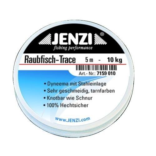 Raubfisch-Trace, feingeflochtenes Dyneema, 16 Kg, 5 m