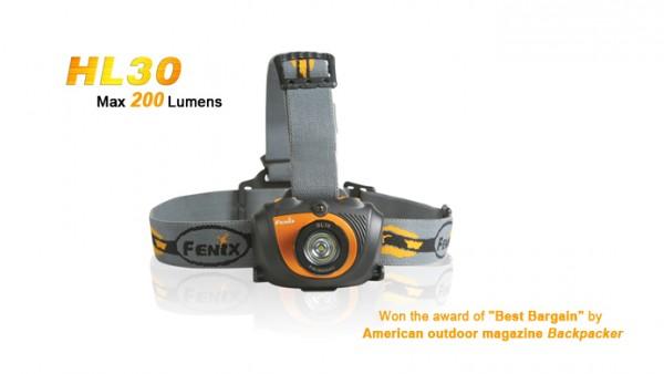 Fenix HL30 LED Stirnlampe Grau