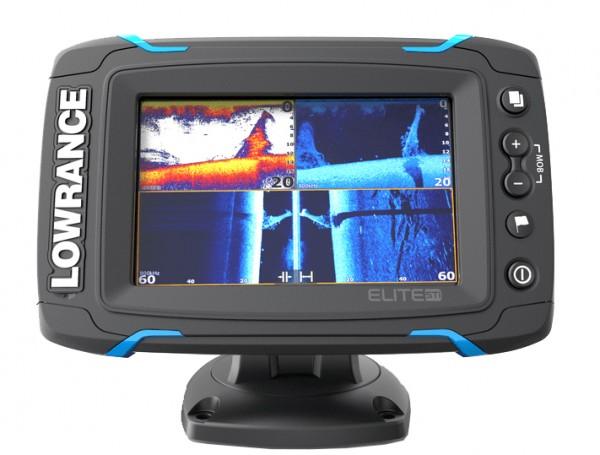 Lowrance Elite 5Ti Fischfinder Echolot GPS mit TotalScan Geber
