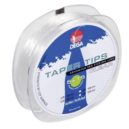 Taper Tips Clear Vorfach 0,33-0,60mm L