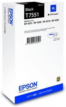 Epson Tinte WF-8XXX Serie Tintenpatrone schwarz XL 100ml