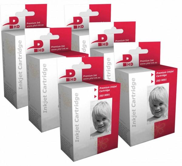 PHD-INK E243x XL Multipack 6 Patronen mit Chip ersetzt Epson T2437 Elefant Multipack 24 XL mit den einzelnen Patronen T2431, T2432, T2433, T2434, T2435, T2436 für Epson Expression Photo Modelle XP-55, XP-750, XP-760, XP-850, XP-860, XP-950
